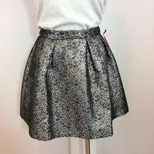 Ruby & Bloom Other - GIRLS (14) Ruby &Bloom Black/Silver Jacquard Skirt