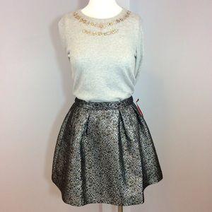 Ruby & Bloom Other - GIRLS (14) Ruby &Bloom Black/Silver Jacquard Skirt