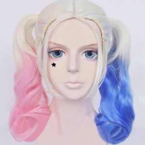 Suicide Squad Harley Quinn Blonde Cosplay Wig
