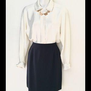 Dresses & Skirts - 🖤🎩HOST PICK🎩🖤 NAVY BLUE SKIRT SZ 2P