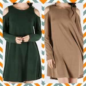 Love Riche Dresses & Skirts - ✨SALE!✨Forest Green Cold Shoulder Dress✨