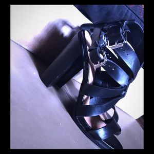 unlisted Shoes - Very cute and stylish black strappy heels