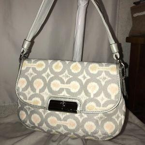 Coach Handbags - COACH Kristin Ikat Signature Top Handle Flap 45376
