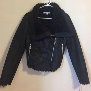 Faux fur inside, faux suede jacket.