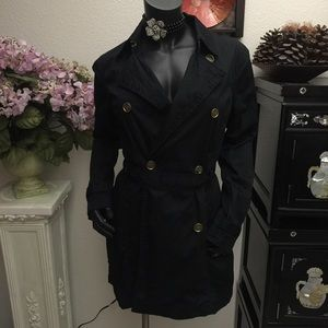 Michael Kors black trench coat