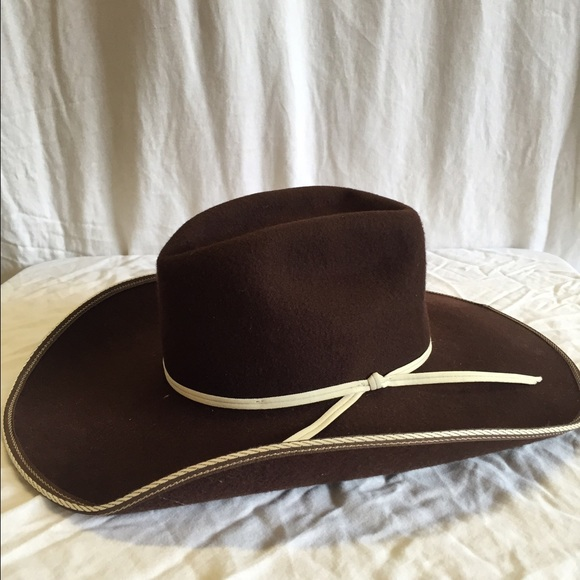 Resistol Tuff Hedeman Snake Eyes brown felt hat. M 588667e4d14d7bf554154c68 8d854510612
