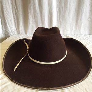 305527ed682f0 resistol Accessories - Resistol Tuff Hedeman Snake Eyes brown felt hat