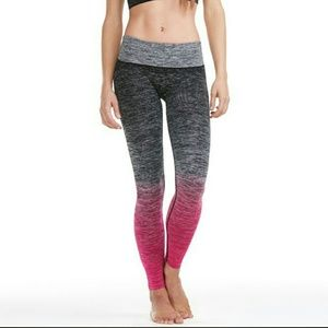 Pants - Black pink heather ombre yoga workout leggings