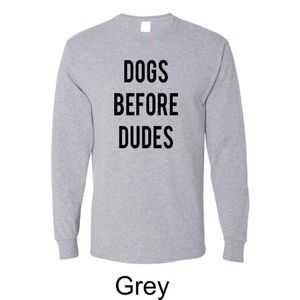 """Dogs before dudes"" Top"