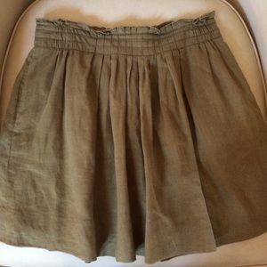 J.Crew A-Line Linen Skirt