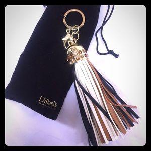 DILLARD'S Brand Jeweled Purse Charm Tassel