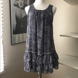 Bonnie Jean Other - Navy blue and white polka dot designer dress