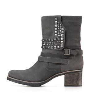 Vince Camuto Shoes - Vince Camuto Grey Studded Booties