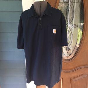 Carhartt Other - MENS👕CARHARTT Navy Blue Polo Shirt