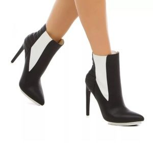 GX by Gwen Stefani Shoes - GX Gwen Stefani blackwhite heels booties