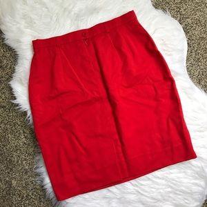 Escada Dresses & Skirts - [Escada] Red Pencil Skirt