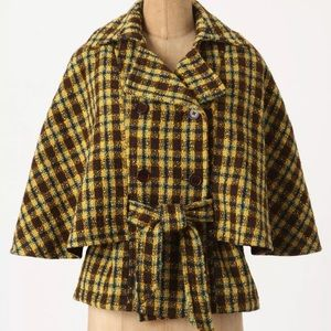 Anthropologie Jackets & Blazers - Anthro What Goes Around Comes Around Plaid Cape