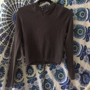 Guess hooded cropped sweater