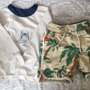 GAP Other - Size 2T Baby Gap Rash Guard and Swim Trunks