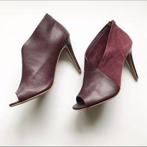 Halogen Shoes - Halogen maroon open toed heeled bootie