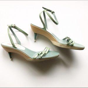 Miu Miu Shoes - Vintage Miu Miu turquoise pattern leather sandals