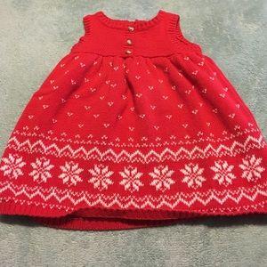 Super cute red sweater dress!