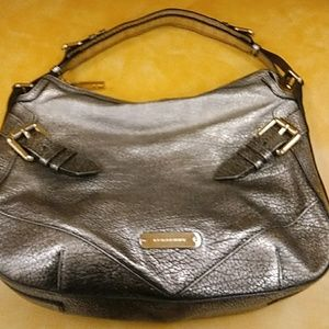 Burberry All Leather Bag Firm!! Sale