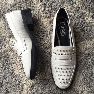 110f0c9c107f8 Circus by Sam Edelman Shoes - NWOT Sam Edelman Circus Lali white studded  loafers