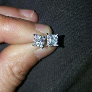 Ice Jewelry - Sale - White Gold Princess Cut
