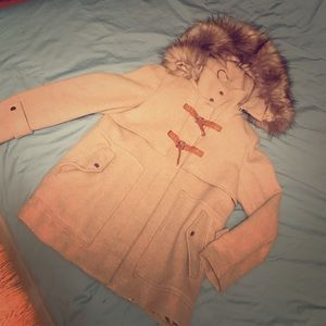 ZARA beige coat size L