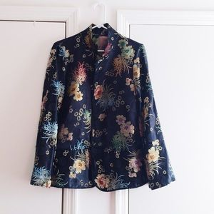 Jackets & Blazers - Asian Floral Printed Jacket