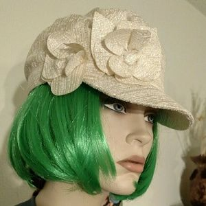 Collection XIIX Accessories - SALE Shimmering Cream Newsboy Cap