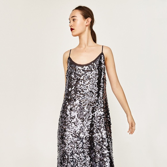 64c27297 Zara Dresses | Studio Sequin Dressdisco Forest Collection | Poshmark