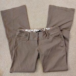 Pants - Light Brown Low Rise Slacks