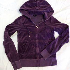 Purple velour jacket