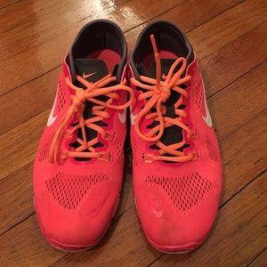 Nike Shoes - Neon Pink Nike Free 5.0