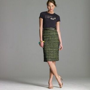 J. Crew Dresses & Skirts - J. Crew Sparkle Plaid Tweed Skirt