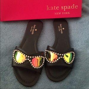 Kate Spade black leather sandals