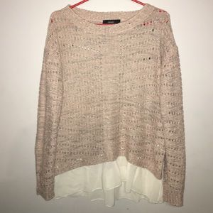 FOREVER 21 LIGHT PINK KNITTED PULLOVER