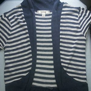 Decree Sweaters - Blue jean blue and White stripe sweater