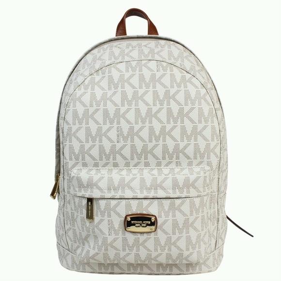 f462973df7b2 Michael Kors Jet Set large vanilla backpack. M_58869aaafbf6f9ef0b02218a