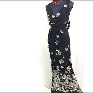 LAST 1✔RALPH LAURENS CHAPS Large Black  Maxi Dress