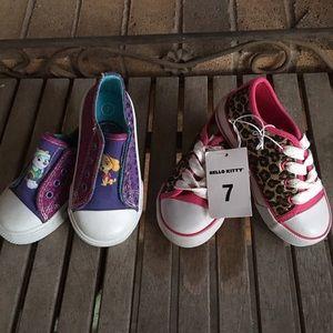 Hello Kitty & Paw Patrol Sparkle Sneakers