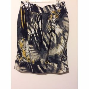 Printed pencil skirt with POCKETS