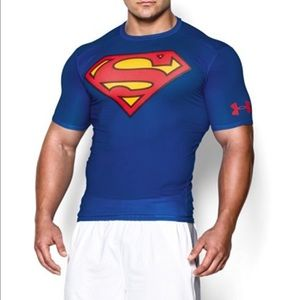 Under Armour Other - 💪 NWT Superman Under Armour compression shirt XXL