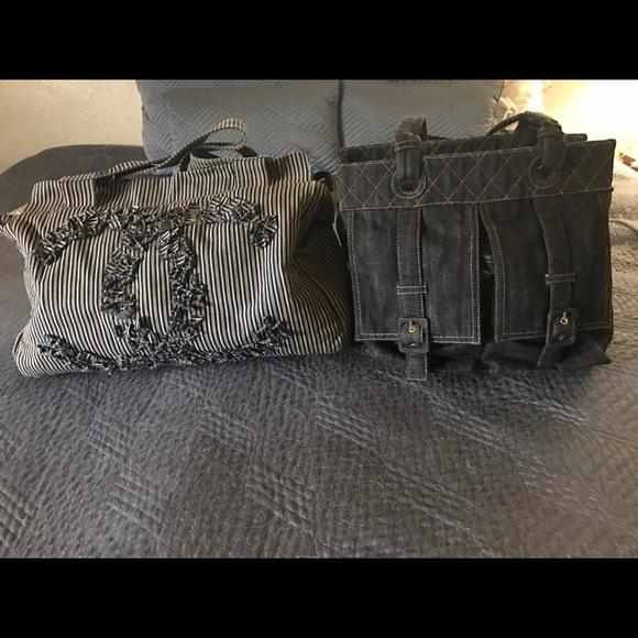 855eccb93b9f CHANEL Bags   Blue And White Striped Tote   Poshmark