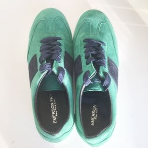 """Emerson Fry Shoes - RARE Emerson Fry """"Trainers"""" in Green / Navy"""