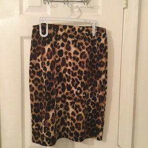 Betsey Johnson Leopard pencil skirt