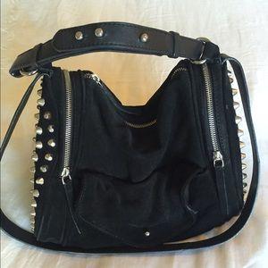 Zara black studded purse