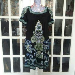 London Times Dresses & Skirts - Career Fleur De Lis Pattern Dress